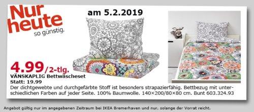 IKEA Bremerhaven - VÄNSKAPLIG Bettwäscheset 2-tlg., bunt - jetzt 75% billiger