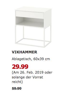 IKEA Brinkum - VIKHAMMER Ablagetisch, weiß - jetzt 50% billiger