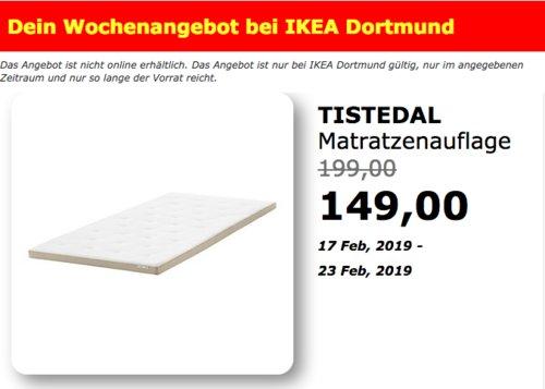 IKEA Dortmund - TISTEDAL Matratzenauflage, 90x200x6 cm - jetzt 25% billiger