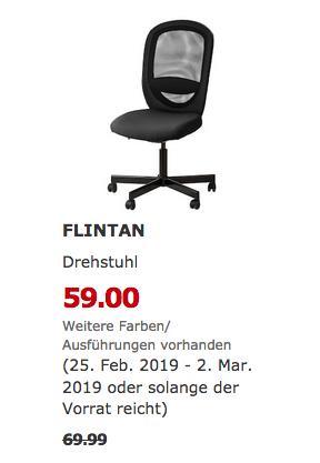 IKEA Dresden - FLINTAN Drehstuhl, schwarz - jetzt 16% billiger