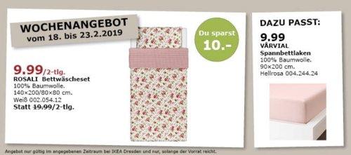 IKEA Dresden - ROSALI Bettwäscheset, 140x200/80x80 cm - jetzt 50% billiger