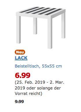 IKEA Duisburg - LACK Beistelltisch,weiß/schwarz - jetzt 30% billiger