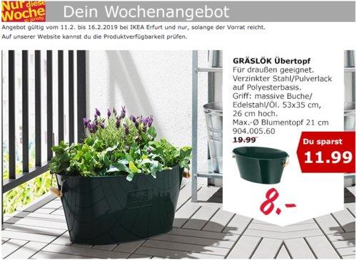 IKEA Erfurt - GRÄSLÖK Übertopf, Stahl - jetzt 60% billiger