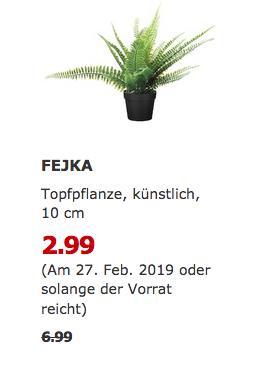 IKEA Essen - FEJKA Topfpflanze, künstlich - jetzt 57% billiger