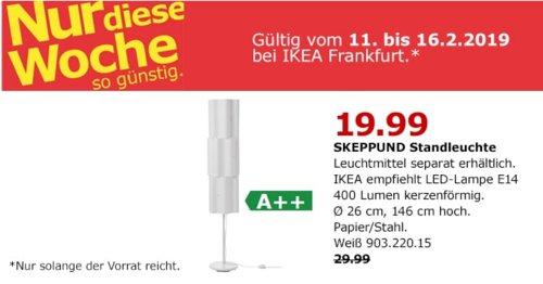 IKEA Frankfurt - SKEPPUND Standleuchte, weiß - jetzt 33% billiger