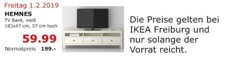 IKEA Freiburg - HEMNES TV-Bank, weiß - jetzt 70% billiger