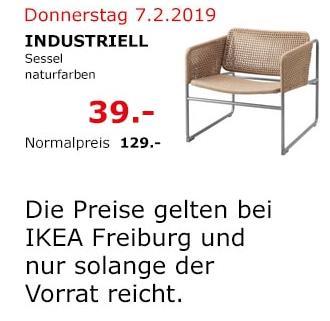 IKEA Freiburg - INDUSTRIELL Sessel, naturfarben - jetzt 70% billiger