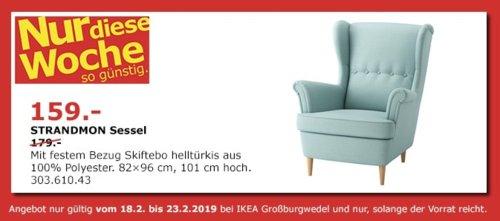 IKEA Großburgwedel - STRANDMON Sessel, helltürkis - jetzt 11% billiger