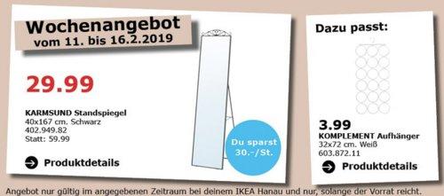 IKEA Hanau - KARMSUND Standspiegel, schwarz - jetzt 50% billiger