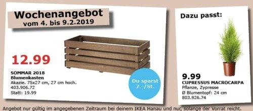IKEA Hanau - SOMMAR 2018 Blumenkasten, 75x27x27 cm - jetzt 35% billiger