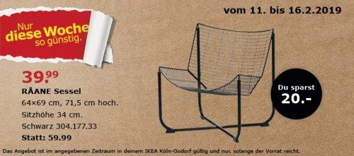 IKEA Köln-Godorf - RAANE Sessel, schwarz - jetzt 33% billiger