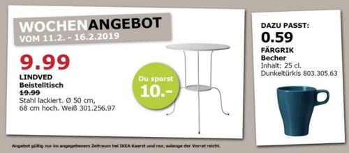 IKEA Kaarst - LINDVED Beistelltisch, weiß - jetzt 50% billiger