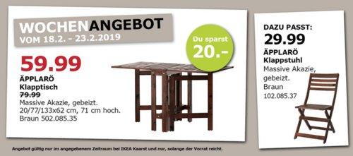 IKEA Kaarst - ÄPPLARÖ Klapptisch/außen, braun - jetzt 25% billiger