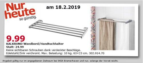 IKEA KALKRUND Wandboard/Handtuchhalter, 63x23 cm - jetzt 60% billiger