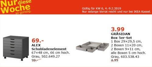 IKEA Kassel - ALEX Schubladenelement, grau - jetzt 30% billiger