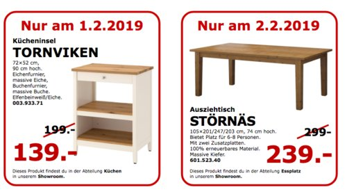 IKEA Koblenz - TORNVIKEN Kücheninsel - jetzt 30% billiger