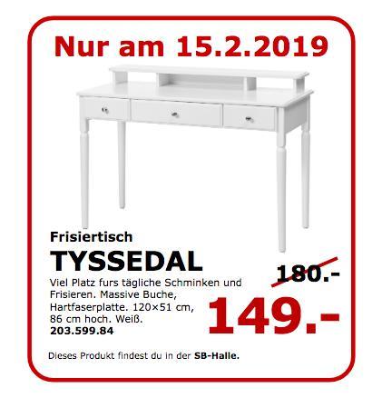 IKEA Koblenz - TYSSEDAL Frisiertisch, weiß - jetzt 17% billiger