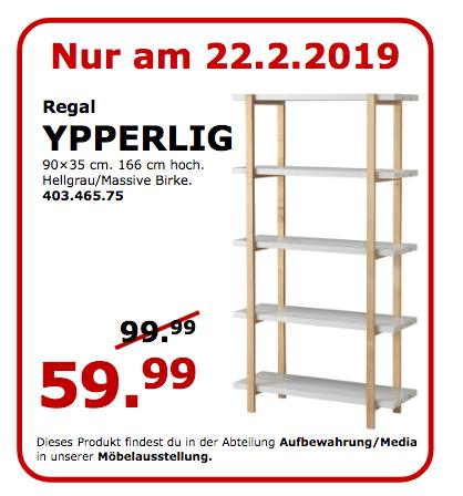 IKEA Koblenz - YPPERLIG Regal, hellgrau - jetzt 40% billiger