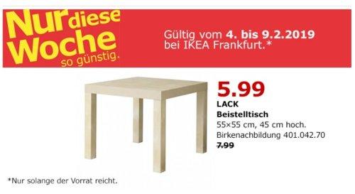 IKEA LACK Beistelltisch, Birkenachbildung, 55x55x45 cm - jetzt 25% billiger