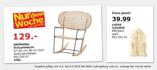IKEA Ludwigsburg - GRÖNADAL Schaukelstuhl, naturfarben - jetzt 24% billiger