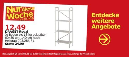 IKEA Magdeburg - DRAGET Regal, hellgrau - jetzt 50% billiger