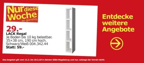 IKEA Magdeburg - LACK Regal, schwarz/weiß, 190 cm hoch - jetzt 34% billiger