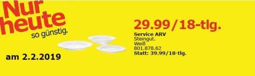 IKEA Oldenburg - ARV Service, weiß, 18-tlg. - jetzt 25% billiger