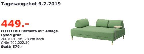 IKEA Regensburg - FLOTTEBO Bettsofa mit Ablage - jetzt 22% billiger