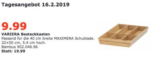 IKEA Regensburg - VARIERA Besteckkasten, Bambus, 32x50 cm - jetzt 50% billiger