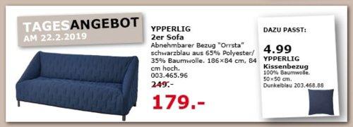 IKEA Siegen - YPPERLIG 2er Sofa, schwarzblau - jetzt 28% billiger