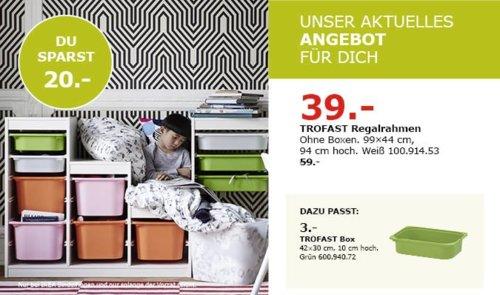 IKEA Sindelfingen - TROFAST Regalrahmen, weiß, 99x44 xm, 94 cm hoch - jetzt 34% billiger