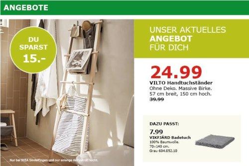 IKEA Sindelfingen - VILTO Handtuchständer, massive Birke, 150 cm hoch - jetzt 38% billiger