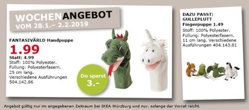 IKEA Würzburg - FANTASIVÄRLDHandpuppe 25 cm - jetzt 60% billiger