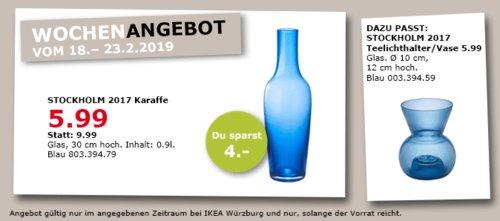 IKEA Würzburg - STOCKHOLM 2017 Karaffe, blau - jetzt 40% billiger
