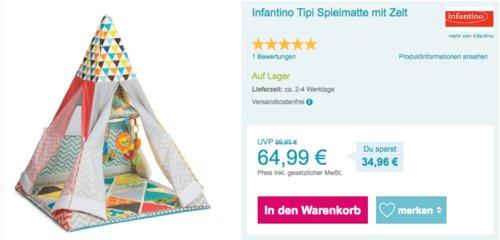 Infantino Tipi, Spielmatte mit Zelt - jetzt 27% billiger