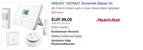 innogy 10276527 SmartHome Sicherheit Starter Kit inkl. Bewegungsmelder und Rauchmelder - jetzt 34% billiger