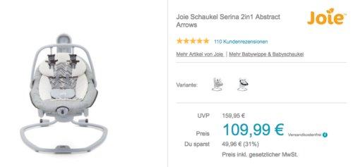 Joie Schaukel Serina 2in1, Abstract Arrows - jetzt 21% billiger