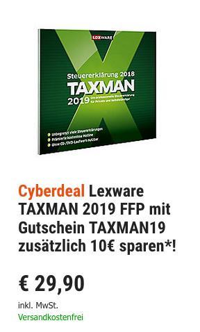 Lexware TAXMAN 2019 Steuererklärung für 2018 - jetzt 33% billiger