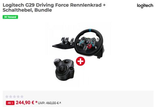 Logitech G29 Driving Force Rennlenkrad inkl. Logitech Driving Force Shifter Schalthebel - jetzt 9% billiger