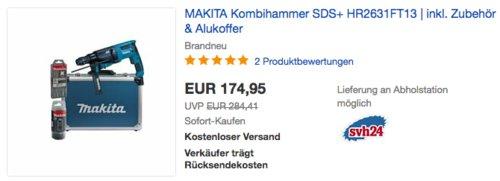 MAKITA Kombihammer SDS+ HR2631FT13 inkl. Zubehör & Alukoffer - jetzt 10% billiger