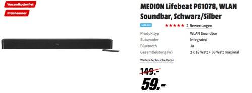 Medion P61078 Lifebeat Soundbar - jetzt 23% billiger