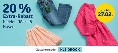 myToys 20 % Extra-Rabatt auf Kleider, Röcke & Hosen: z.B.  TOMMY HILFIGER Kinder Jerseykleid in Hellblau - jetzt 19% billiger