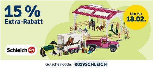 myToys.de 15% Extra-Rabat auf Schleich: z.B. Schleich Reiterhof + GRATIS Pferd Englisches Vollblut (42344 + 42360) - jetzt 15% billiger