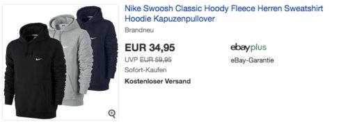 Nike Club Swoosh Herren Kapuzenpullover für 34,95