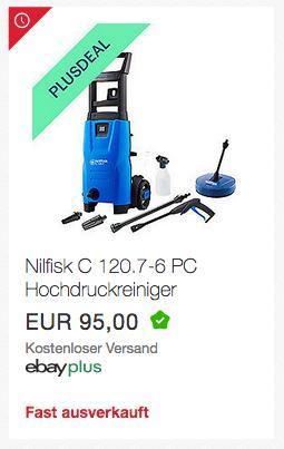 NILFISK C 120.7-6 PC Hochdruckreiniger, 120 bar - jetzt 10% billiger
