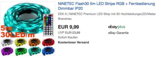 NINETEC Flash30 5m LED Stripe, dimmbar - jetzt 60% billiger