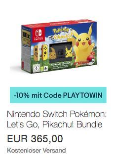 Nintendo Switch Pokémon: Let's Go, Pikachu! Bundle - jetzt 10% billiger