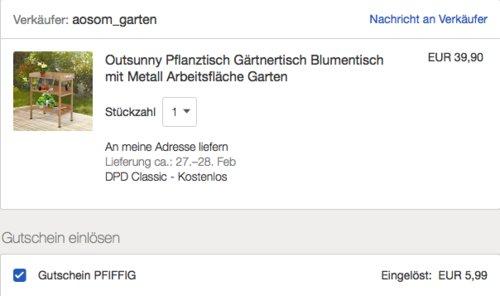 Outsunny Pflanztisch/Gärtnertisch, 76x37x89cm - jetzt 15% billiger