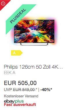 Philips 50PUS7373/12 126cm (50 Zoll) 4K UHD-LED-Fernseher mit 3-seitigem Ambilight - jetzt 10% billiger