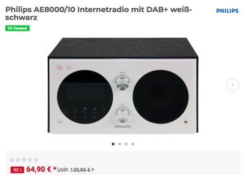 Philips AE8000/10 Internetradio mit DAB+, weiß-schwarz - jetzt 7% billiger